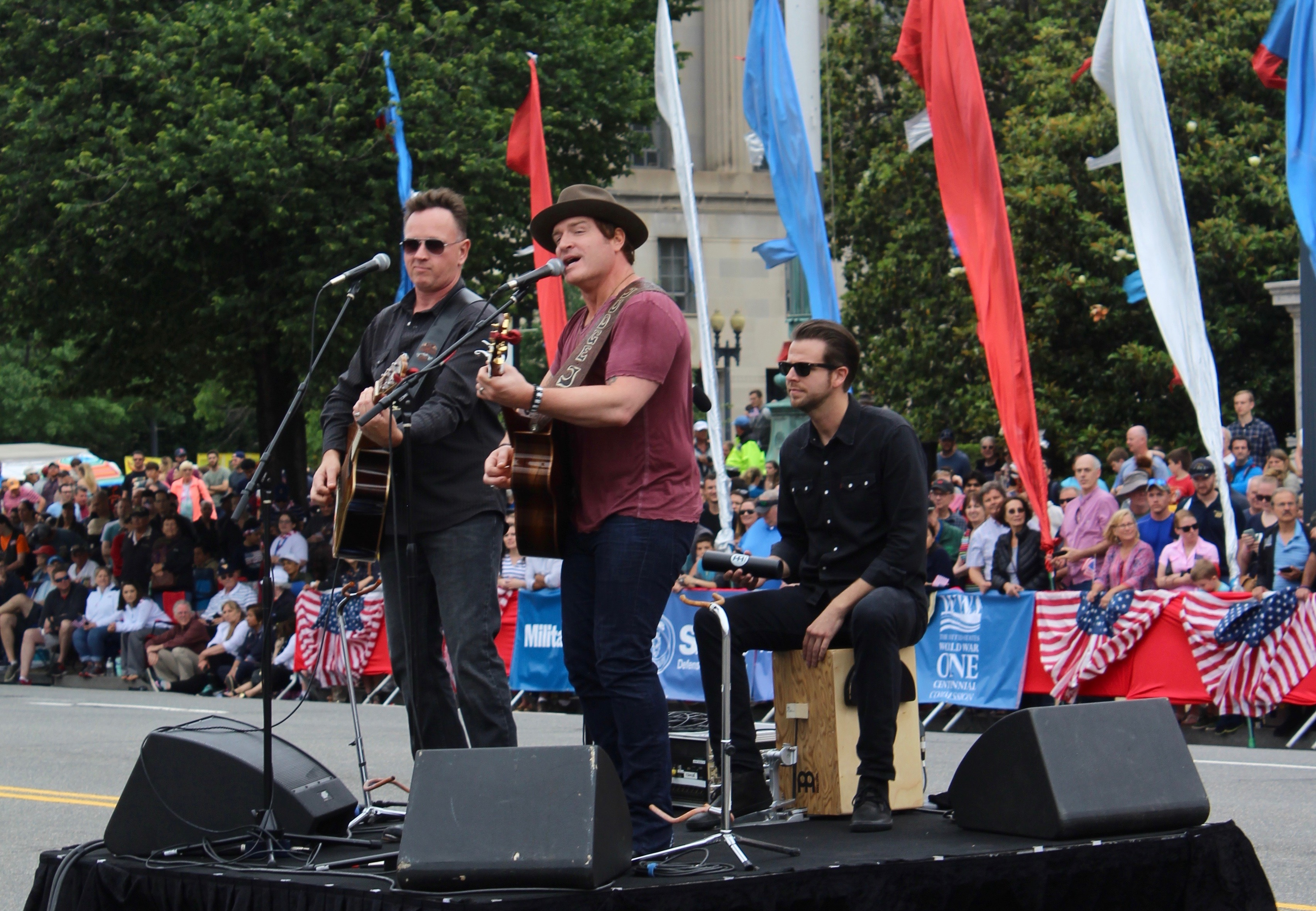 Country music artist Jerrod Neimann performs at the National Memorial Day Parade in Washington, D.C. (Julia Nista/The Daily Caller)