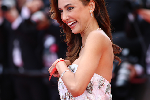 """Opening ceremony of the 71st edition of the Cannes Film Festival in Cannes, and red carpet for the screening of the film """"Todos Lo Saben (Everybody Knows)"""" on May 8, 2018; US director Martin Scorsese, Cate Blanchett, Australian actress and President of the Jury; Spanish actress Penelope Cruz on the Red Carpet. Mexican actress Patricia Contreras gets a wardbrobe malfunction Pictured: Mexican actress Patricia Contreras gets a wardbrobe malfunction Picture by: Stringer / Splash News"""