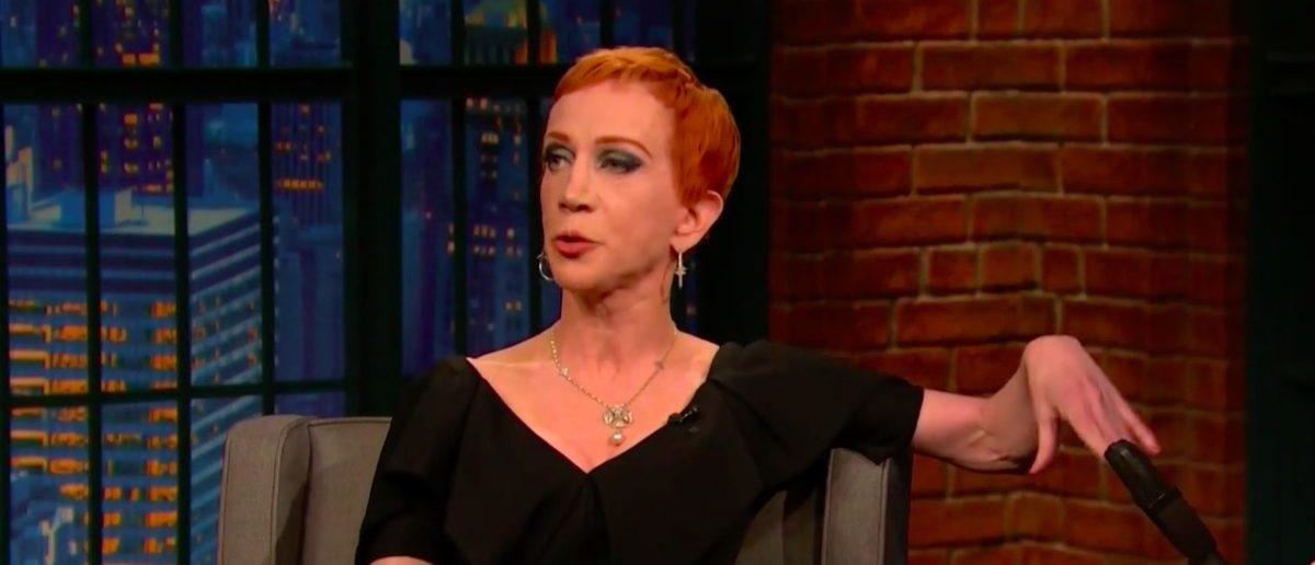 Screen Shot Kathy Griffin (NBC: May 1, 2018)