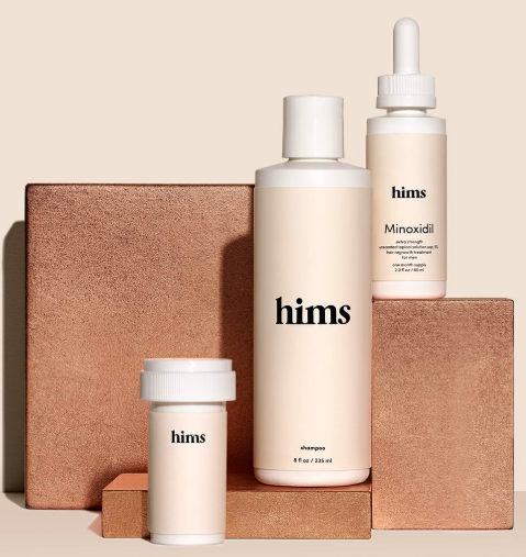A $42 value, you can try the hims hair loss kit for just $5 (Photo via hims)