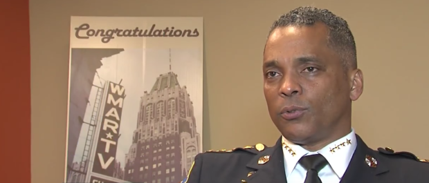 Screen Shot:Baltimore Police Commissioner Darryl De Sousa:Youtube