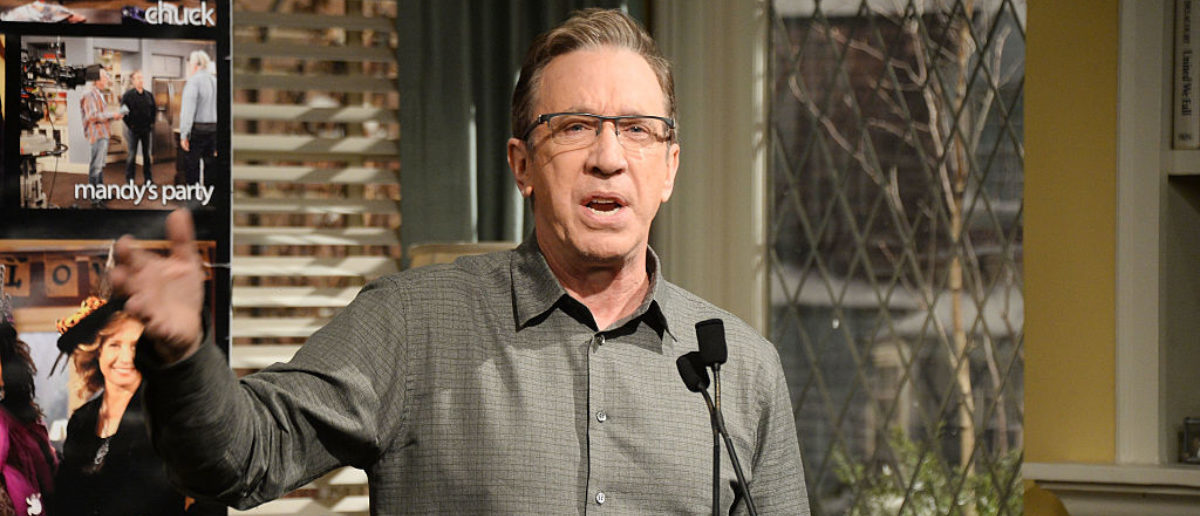 "STUDIO CITY, CA - JANUARY 12: Actor Tim Allen attends the 100th episode celebration of ABC's ""Last Man Standing"" at CBS Studios - Radford on January 12, 2016 in Studio City, California. (Photo by Matt Winkelmeyer/Getty Images)"