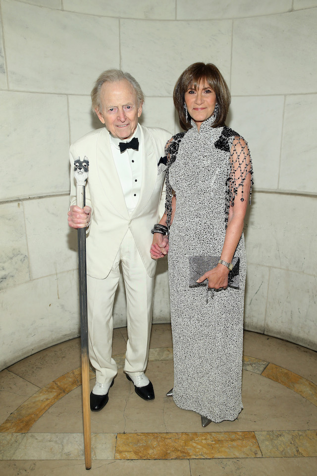 NEW YORK, NY - NOVEMBER 02: Event Co-Chair Tom Wolfe and wife Sheila Wolfe attend the 2015 Library Lions Benefit on November 2, 2015 in New York City. (Photo by Jemal Countess/Getty Images for Library Lions Benefit)