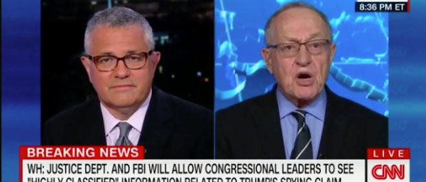 Jeffrey Toobin and Alan Dershowitz debate on CNN. CNN screenshot