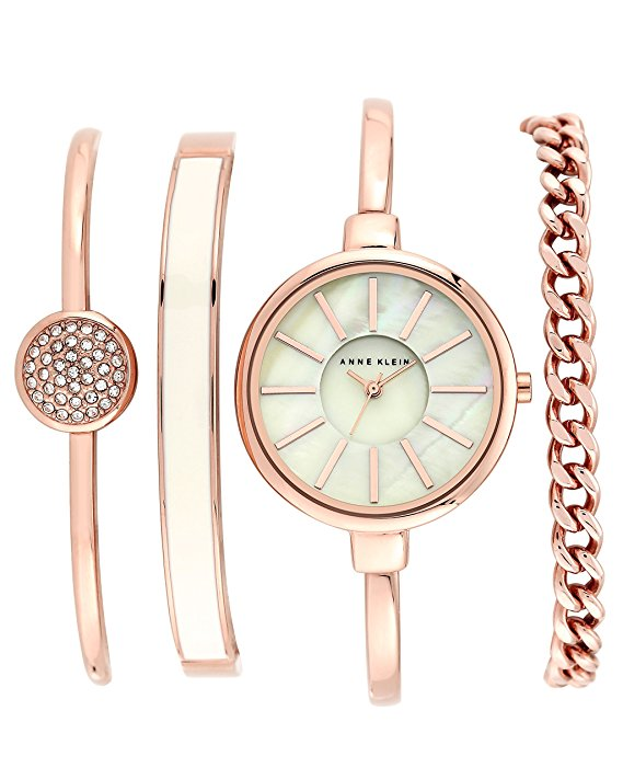 Normally $150, this bangle watch and bracelet set is 67 percent off today (Photo via Amazon)