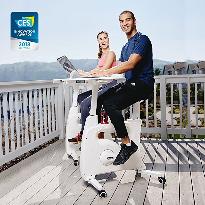 Normally $484, this exercise desk bike is $87 off with this code (Photo via Amazon)