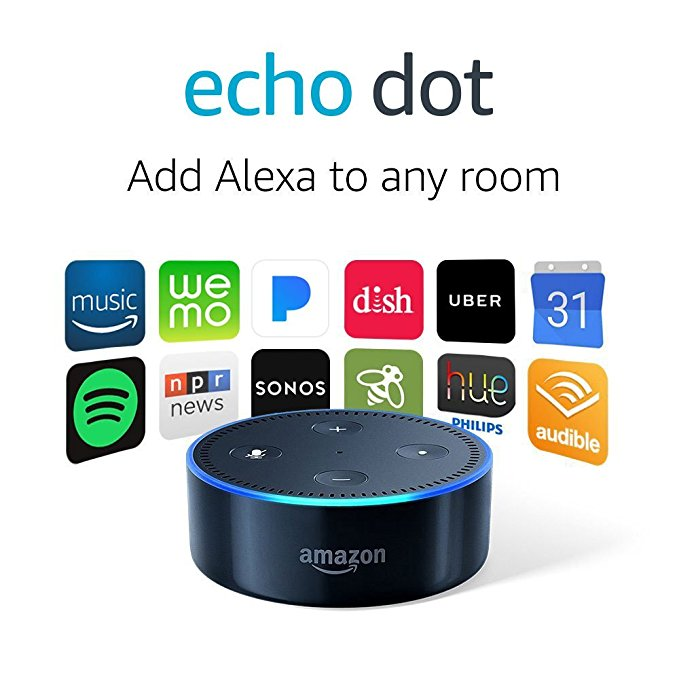 Normally $50, Echo Dots are 20 percent off (Photo via Amazon)