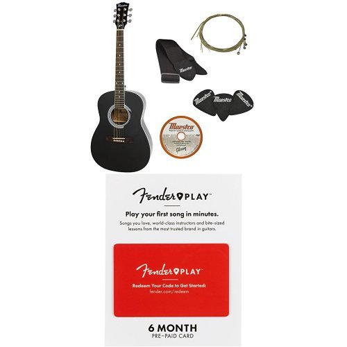 Normally $135 when purchased separately, this guitar starter pack is 26 percent off in a bundle today (Photo via Amazon)
