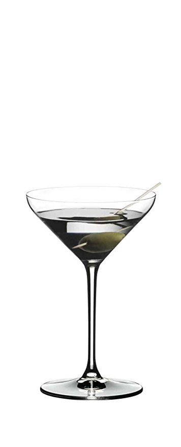 Normally $60, this set of 2 martini glasses is 25 percent off today (Photo via Amazon)