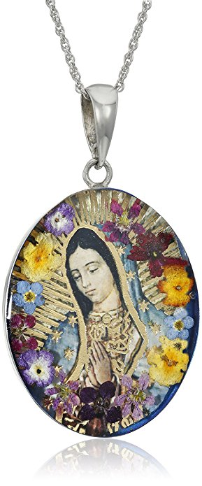 Normally $100, this Virgin Mary necklace is 73 percent off today (Photo via Amazon)
