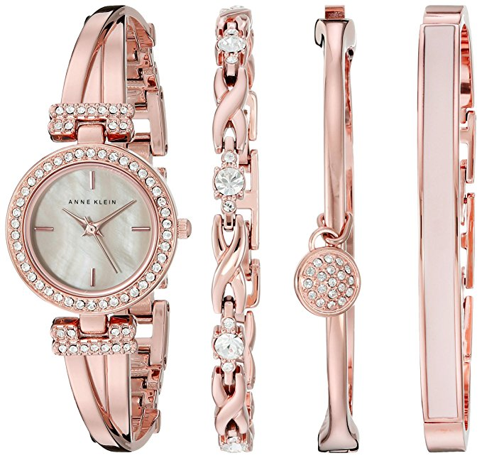 Normally $175, this bangle and watch. set is 66 percent off today (Photo via Amazon)