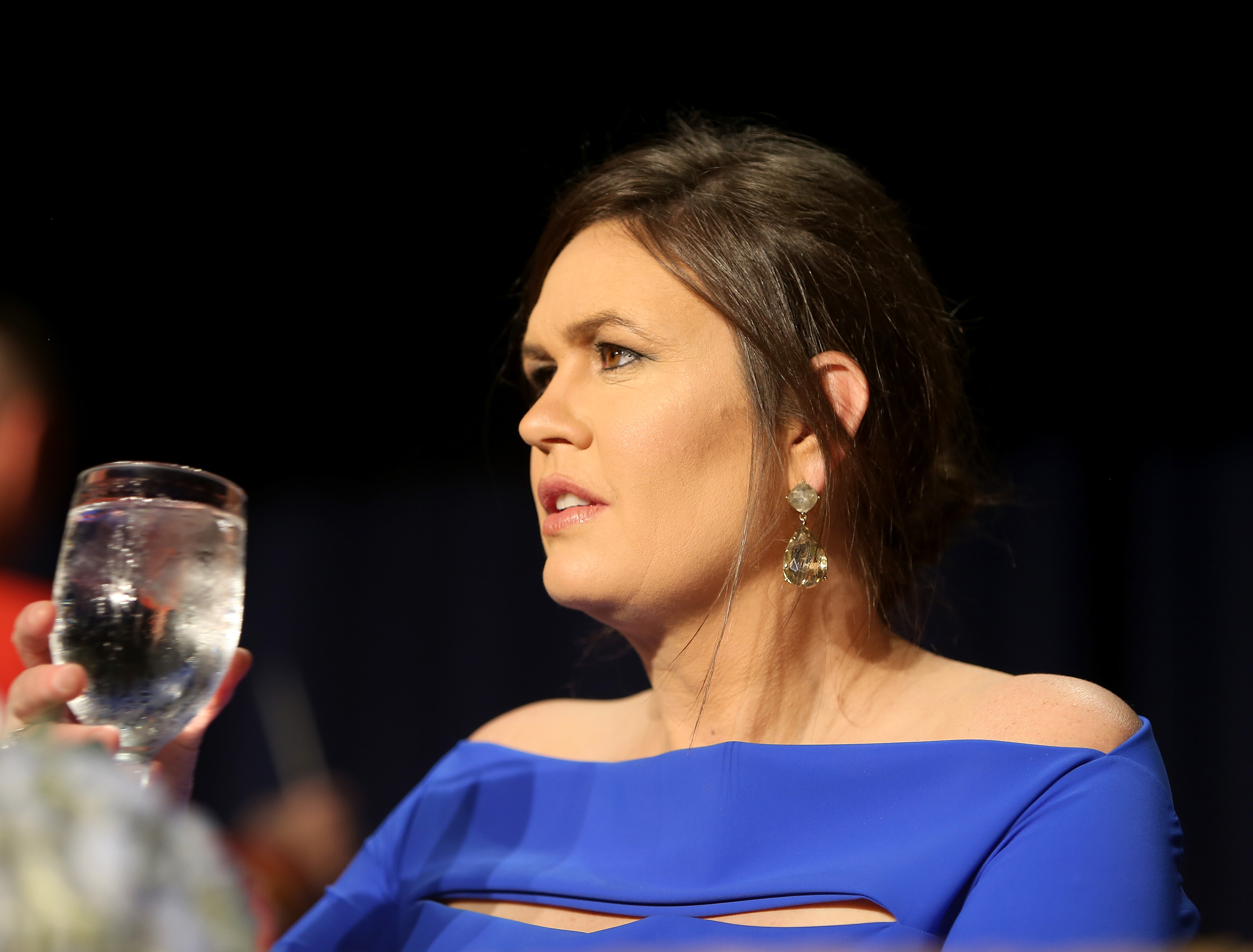 WASHINGTON, DC - APRIL 28: Sarah Huckabee Sanders attends the 2018 White House Correspondents' Dinner at Washington Hilton on April 28, 2018 in Washington, DC. (Photo by Tasos Katopodis/Getty Images)