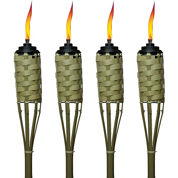 Normally $22, this 4-pack of Tiki torches is 35 percent off today (Photo via Amazon)