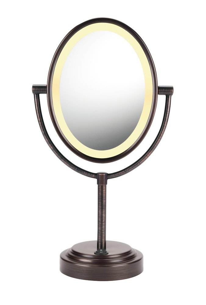 Normally $50, this vanity mirror is 50 percent off today (Photo via Amazon)