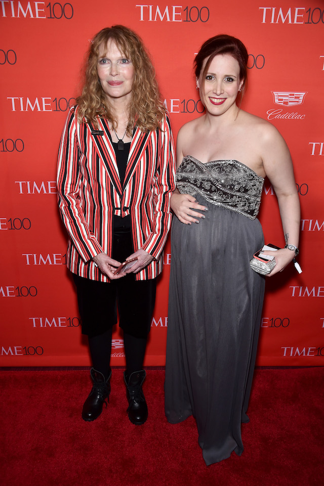 NEW YORK, NY - APRIL 26: Mia Farrow (L) and Dylan Farrow attend 2016 Time 100 Gala, Time's Most Influential People In The World red carpet at Jazz At Lincoln Center at the Times Warner Center on April 26, 2016 in New York City. (Photo by Dimitrios Kambouris/Getty Images for Time) *** Local Caption *** Mia Farrow; Dylan Farrow