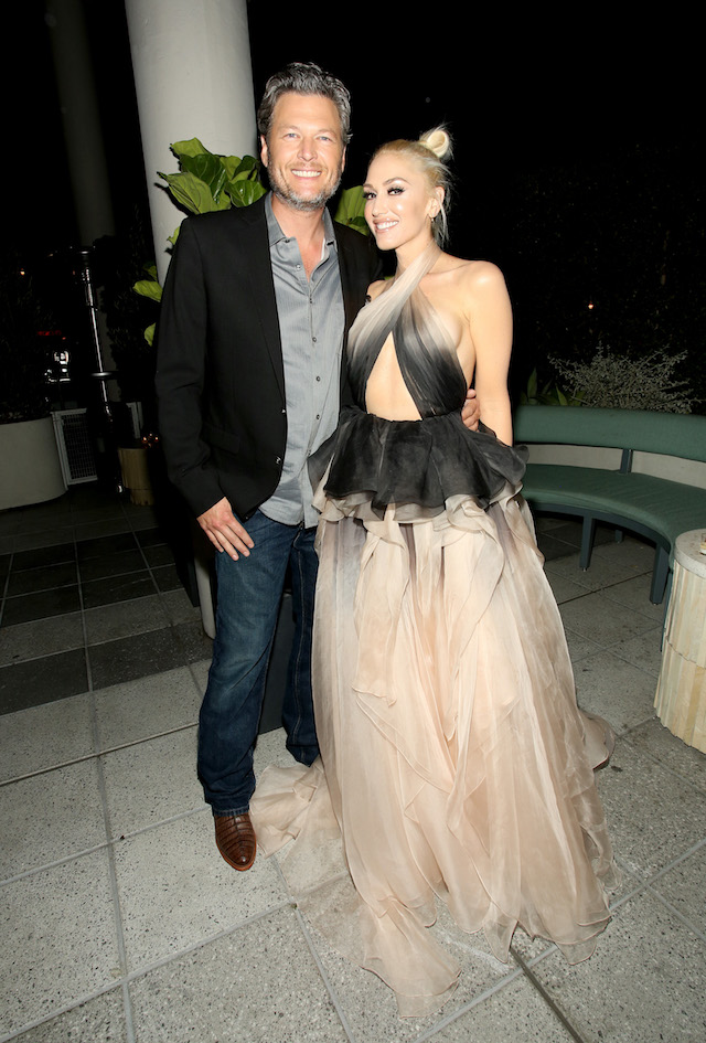 Recording artists Blake Shelton and Gwen Stefani attend Glamour Women of the Year 2016 Dinner at Paley on November 14, 2016 in Hollywood, California. (Photo by Rachel Murray/Getty Images for Glamour)