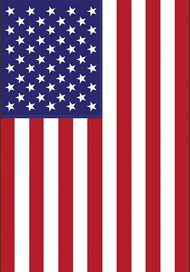 Normally $20, this house flag is 49 percent off today (Photo via Amazon)