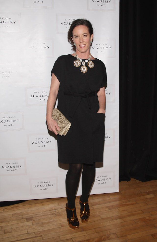 Kate Spade attends The TriBeCa Ball Fundraising Gala for the NY Academy of Art at New York Academy of Art on March 2, 2009 in New York City. (Photo: Getty Images)