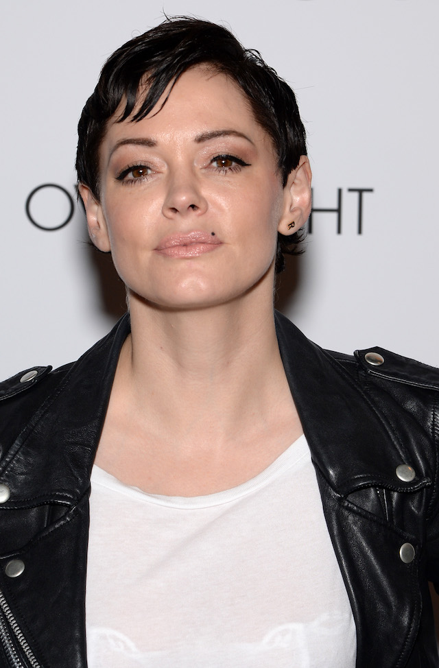 "NEW YORK, NY - JUNE 18: Rose McGowan attends ""The Overnight"" premiere at Sunshine Landmark on June 18, 2015 in New York City. (Photo by Andrew Toth/Getty Images)"
