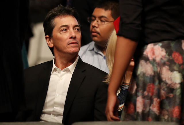 LAS VEGAS, NV - OCTOBER 19: Scott Baio waits for the start of the third U.S. presidential debate at the Thomas & Mack Center on October 19, 2016 in Las Vegas, Nevada. Tonight is the final debate ahead of Election Day on November 8. (Photo by Drew Angerer/Getty Images)