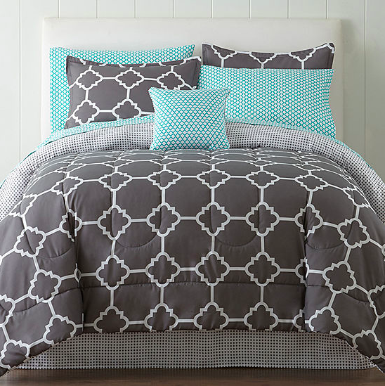 Normally $110, this complete bed set is 66 percent off (Photo via JC Penney)