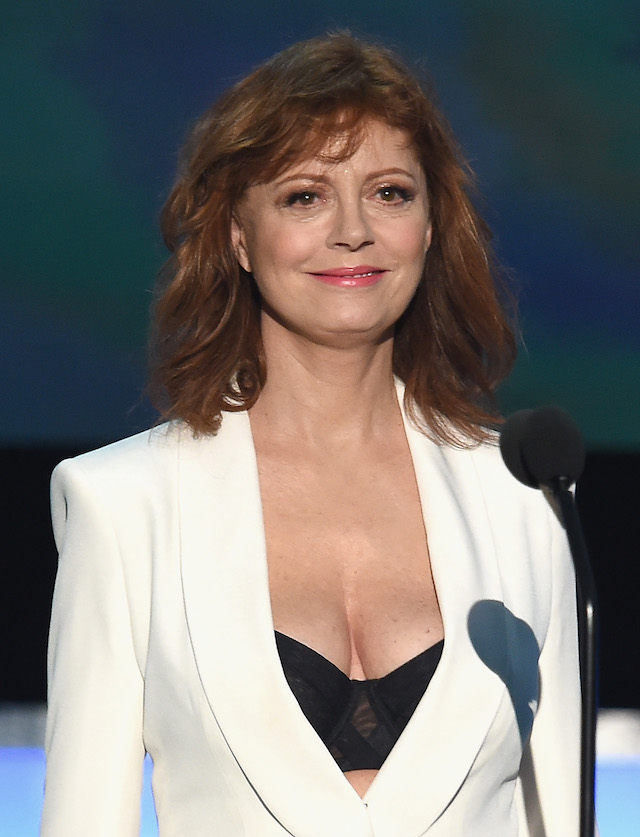 Actress Susan Sarandon speaks onstage during The 22nd Annual Screen Actors Guild Awards at The Shrine Auditorium on January 30, 2016 in Los Angeles, California. 25650_021 (Photo by Kevin Winter/Getty Images for Turner)