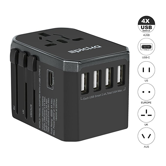 Normally $22, this universal travel power adapter is 23 percent off with this code (Photo via Amazon)