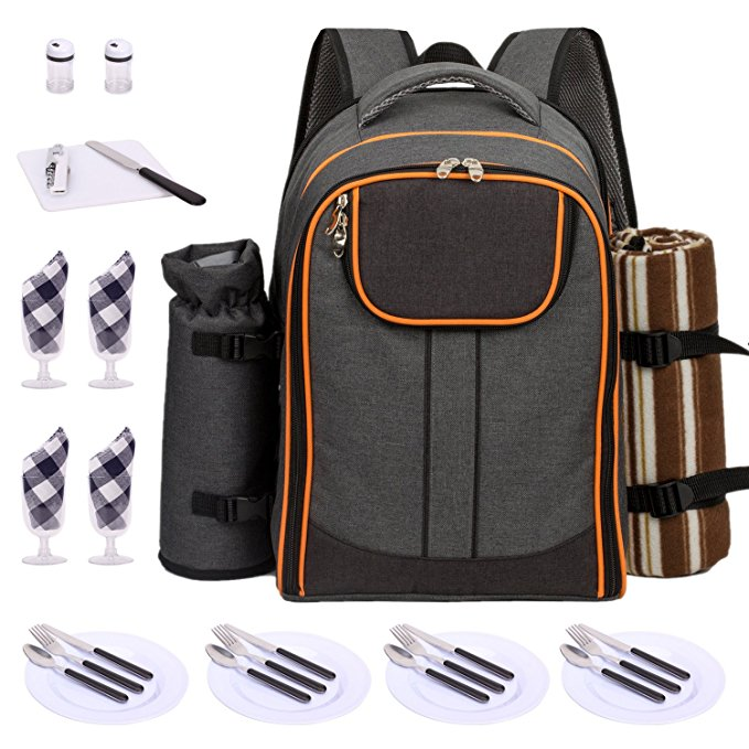 Normally $50, this picnic backpack is 34 percent off today (Photo via Amazon)