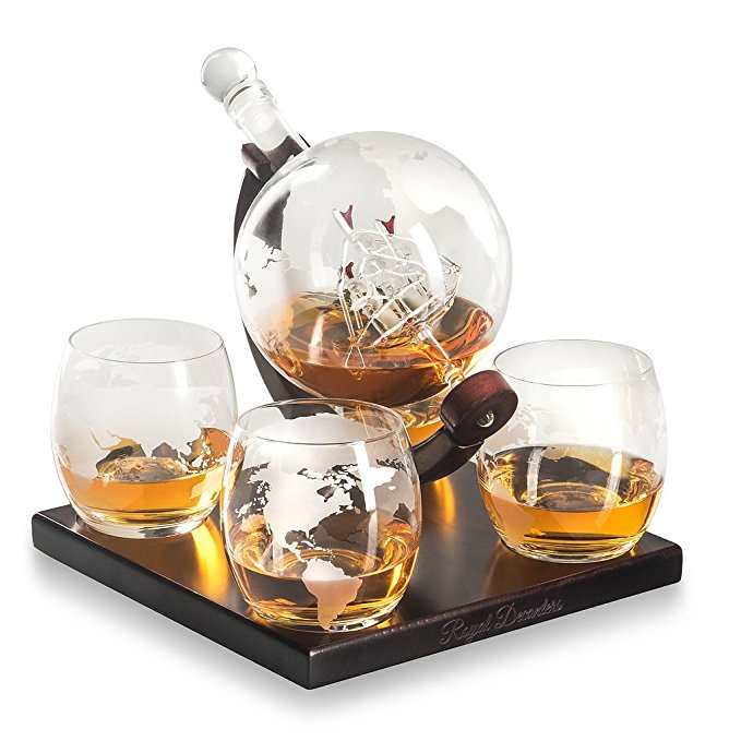 Normally $110, this #1 bestselling decanter gift set is 43 percent off today (Photo via Amazon)