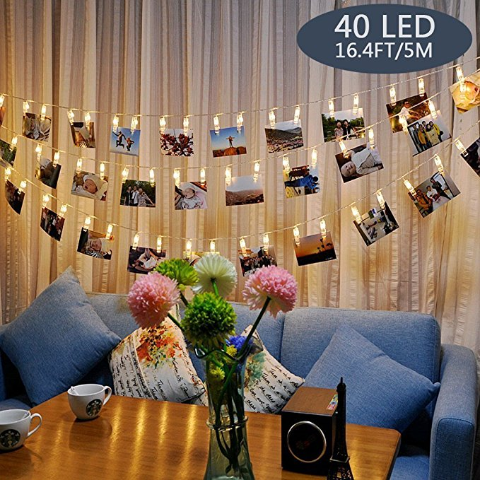 Normally $13, these string lights are 38 percent off with this code (Photo via Amazon)