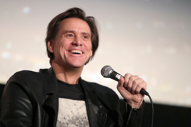 "Jim Carrey speaks onstage during ""Jim & Andy: The Great Beyond - Featuring a Very Special, Contractually Obligated Mention of Tony Clifton"" at AFI FEST 2017 Presented By Audi at TCL Chinese 6 Theatres on November 13, 2017 in Hollywood, California. (Photo by Christopher Polk/Getty Images for AFI)"