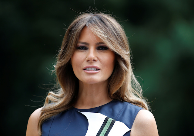 U.S. first lady Melania Trump poses for a picture at the Queen Elisabeth Music Chapel in Waterloo, Belgium July 11, 2018. REUTERS/Vincent Kessler