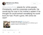 A tweet sent by Michael Leroy Oberg.
