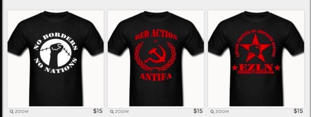 No Gods No Masters Antifa T-Shirt Selection