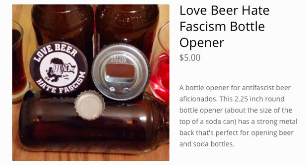 Antifa bottle openers from Antifa United