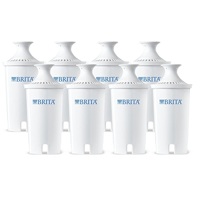 Normally $40, this 8-pack of Brita replacement filters is 34 percent off today (Photo via Amazon)