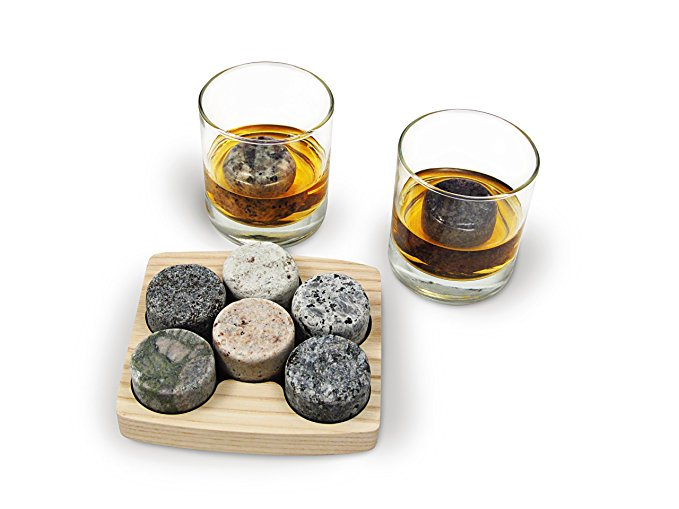 Normally $40, this 6-piece chilling stone set is 13 percent off (Photo via Amazon)