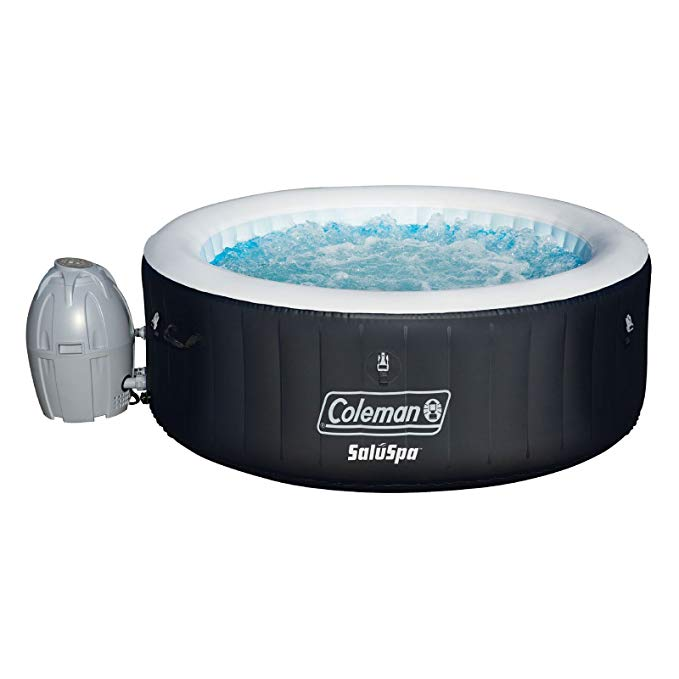 Normally $500, this inflatable hot tub is 30 percent off (Photo via Amazon)