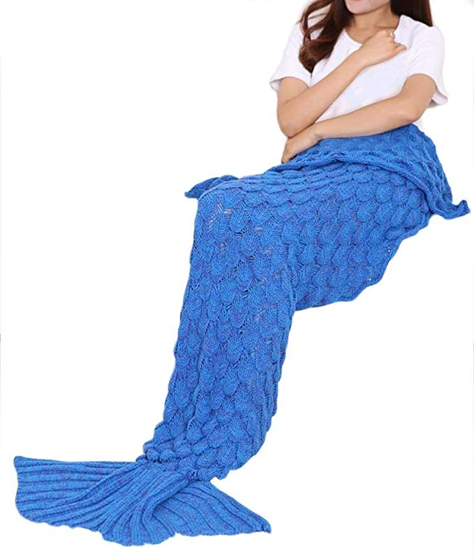 Normally $40, this mermaid blanket is 50 percent off (Photo via Amazon)