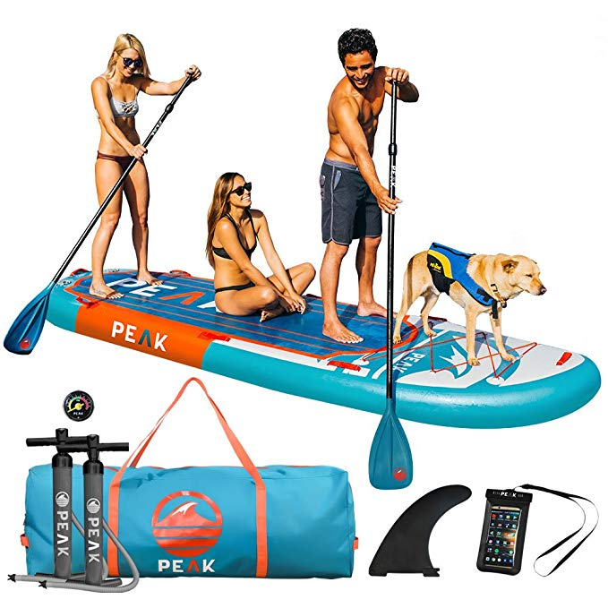 Normally $1400, this stand up paddle board is 44 percent off today (Photo via Amazon)