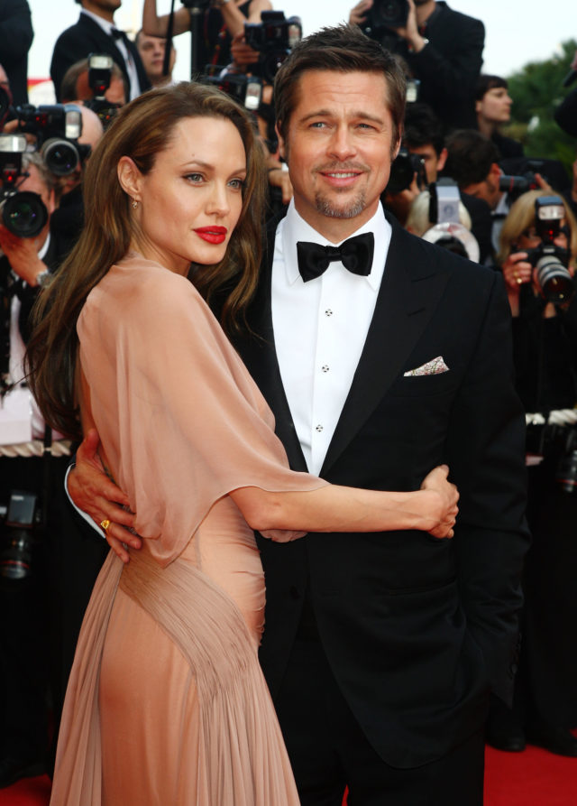 CANNES, FRANCE - MAY 20: Actors Brad Pitt and Angelina Jolie attend the Inglourious Basterds Premiere held at the Palais Des Festivals during the 62nd International Cannes Film Festival on May 20th, 2009 in Cannes, France. (Photo by Gareth Cattermole/Getty Images)