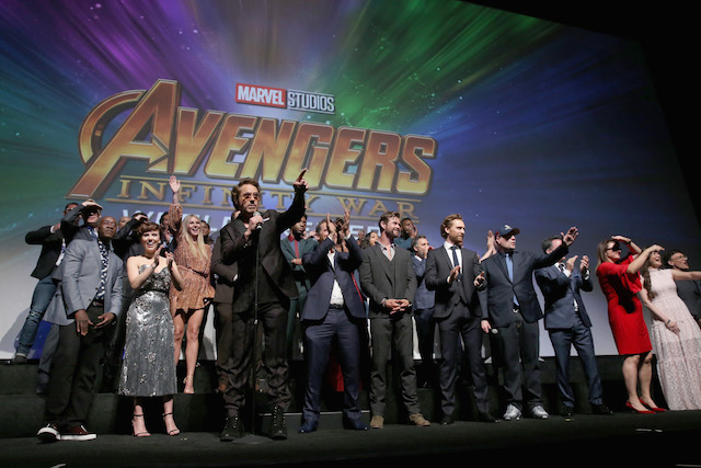Actor Robert Downey Jr. and cast and crew of 'Avengers: Infinity War' attend the Los Angeles Global Premiere for Marvel Studios Avengers: Infinity War on April 23, 2018 in Hollywood, California. (Photo by Jesse Grant/Getty Images for Disney)