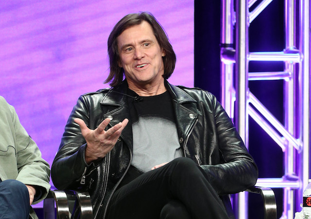 "Executive producer/actor Jim Carrey from ""Kidding"" speaks onstage at the Showtime Network portion of the Summer 2018 TCA Press Tour at The Beverly Hilton Hotel on August 6, 2018 in Beverly Hills, California. (Photo by Frederick M. Brown/Getty Images)"