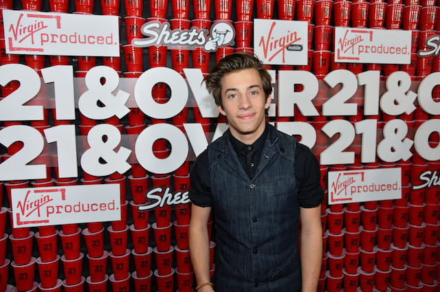 "Actor Jimmy Bennett attends Relativity Media's ""21 and Over"" premiere at Westwood Village Theatre on February 21, 2013 in Westwood, California. (Photo by Frazer Harrison/Getty Images for Relativity Media)"