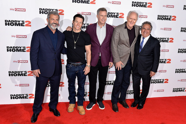 Mel Gibson, Mark Wahlberg, Will Ferrell, John Lithgow and Jim Gianopulos attend the UK Premiere of 'Daddy's Home 2' at Vue West End on November 16, 2017 in London, England. (Photo by Jeff Spicer/Getty Images for Paramount Pictures)