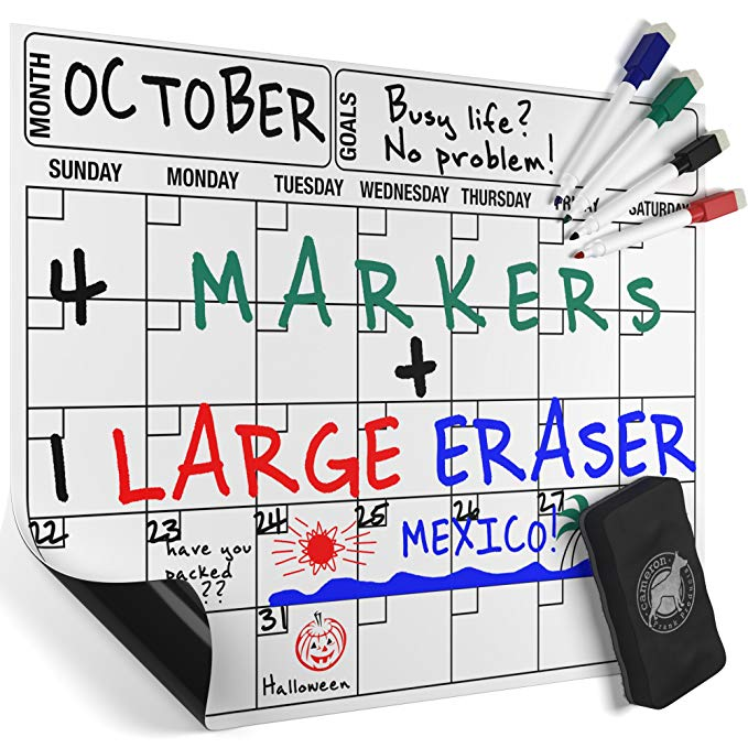 Normally $14, this dry erase board is 28 percent off when you clip the coupon (Photo via Amazon)