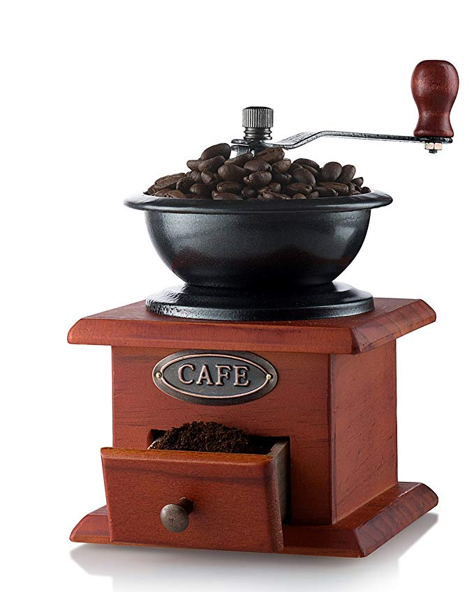 Normally $31, this manual coffee grinder is 61 percent off today (Photo via Amazon)