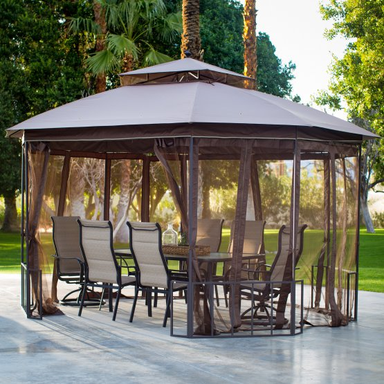Normally $350, this gazebo is 49 percent off with this code (Photo via Amazon)