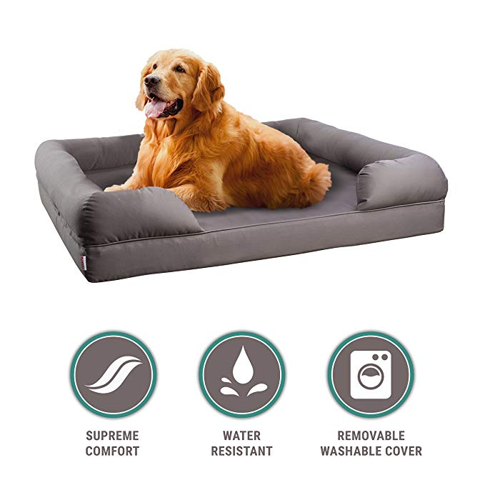 Normally $200, this orthopedic sofa bed is 65 percent off (Photo via Amazon)