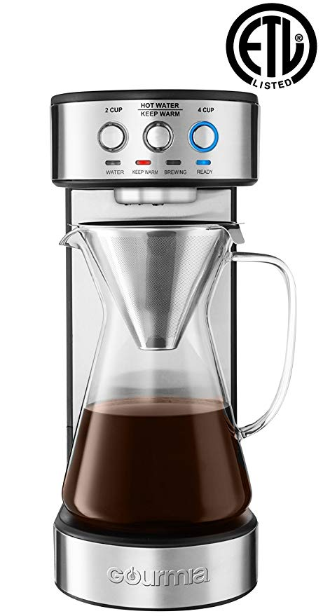 Normally $200, this pour over coffee maker is 57 percent off today (Photo via Amazon)